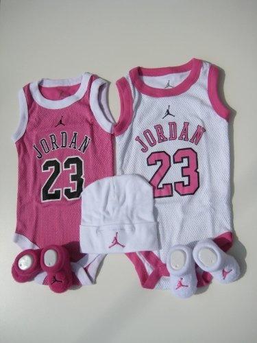 e8d51e6994307a Nike Jordan Infant New Born Baby Girl  2 Vest Bodysuit