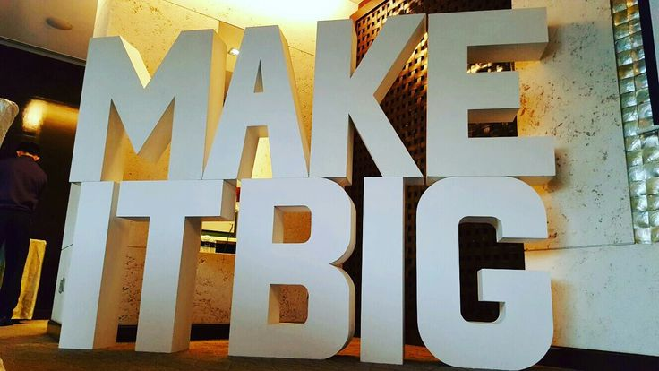 Make it Big in Life! Need some excitement for your event? Look no further as our giant letters can make the event stand out from the rest!