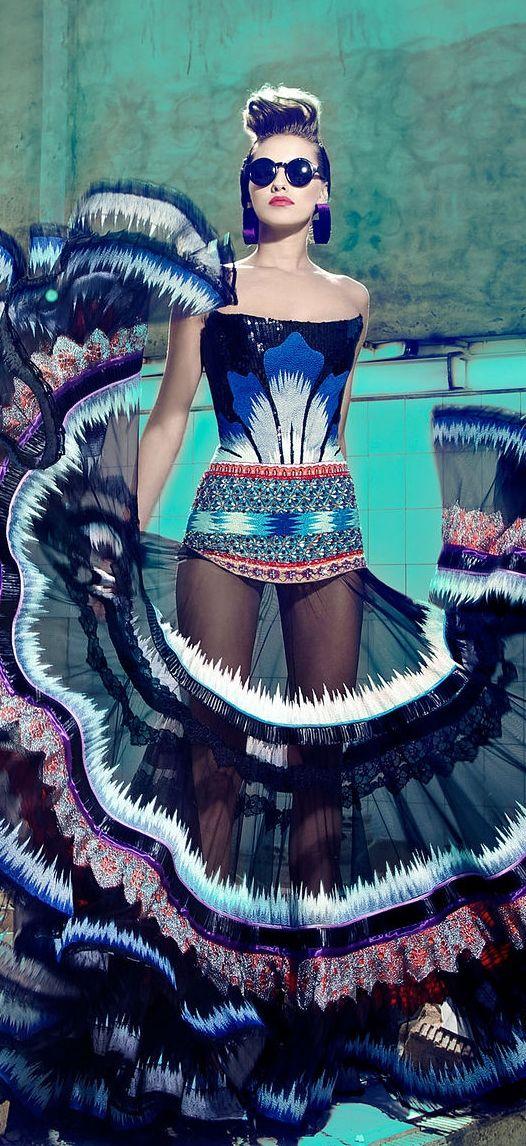 Nicolas Jebran Couture F/W 2013 I wouldn't wear it but its still gorgeous