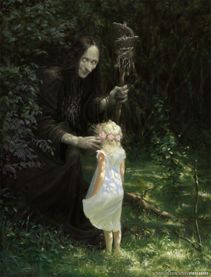 Witch Spell, Alessandro Poli on ArtStation at https://www.artstation.com/artwork/zkym4