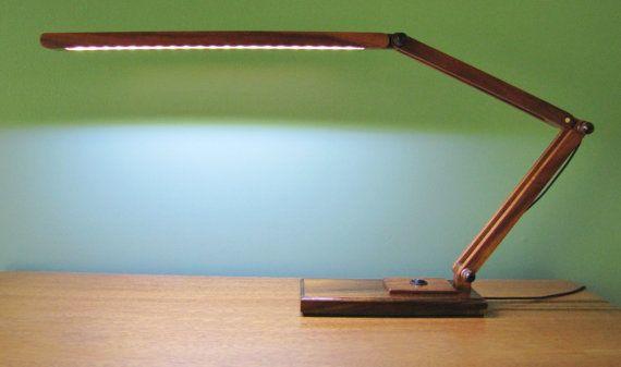 Koa Wood LED desk lamp