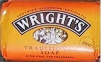 Wright's Coal Tar Soap by Wright's. $8.95. An antiseptic soap for the treatment of skin diseases. Made from liquid by-product of the distillation of coal to make coke. Soap with coal tar fragrance. Created by William Valentine Wright in 1860, Wright's Traditional Soap, or Wright's Coal Tar Soap, is a popular brand of antiseptic soap that is designed to thoroughly cleanse the skin. It is orange in color. For over 130 years, Wright's Coal Tar Soap was a popular brand of hou...