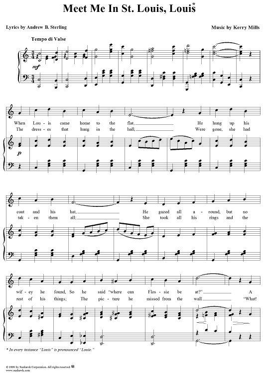 meet with me sheet music