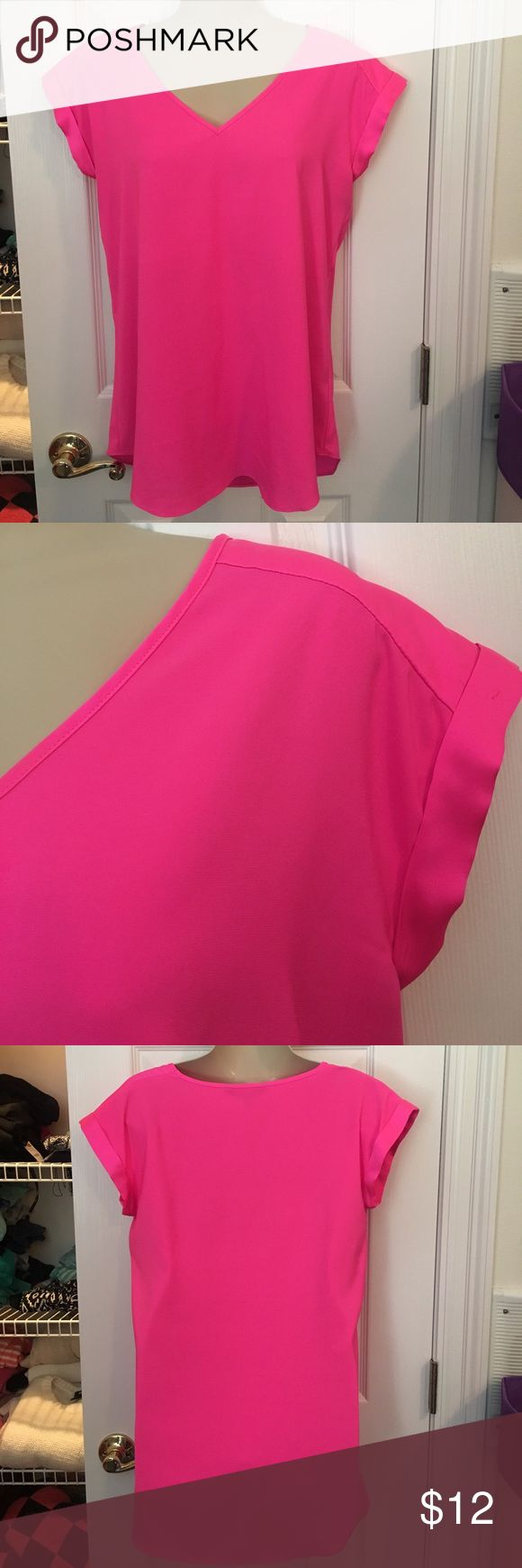 Express hot pink shirt- small In great condition Express Tops
