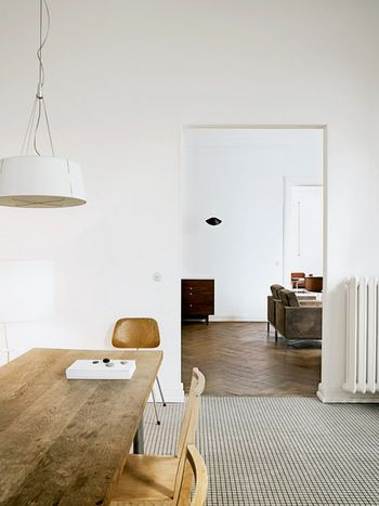 部屋毎に床材を代えても。