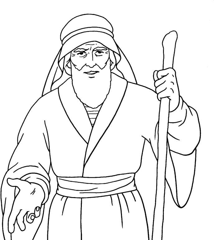 childrens bible stories coloring pages moses | Free Printable Bible Characters moses | Moses Coloring ...