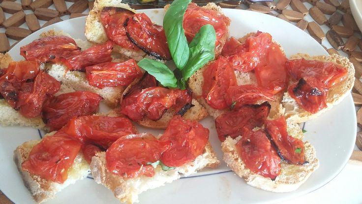 Bruschetta cin pomodori caramellati