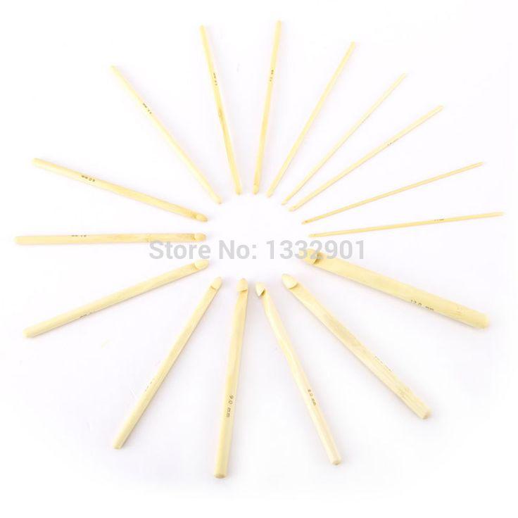 """Barato 16 PCS 2 mm   12 mm de bambu Crochet ganchos agulhas de tricô Weave 15 cm / 6 """" Craft DIY ferramenta, Compro Qualidade Artigos de costura diretamente de fornecedores da China: 100% novo e de alta qualidade!desfrutar de um único tricô experiência com estes liso agulhas de bambu.tamanho: 16 tamanh"""
