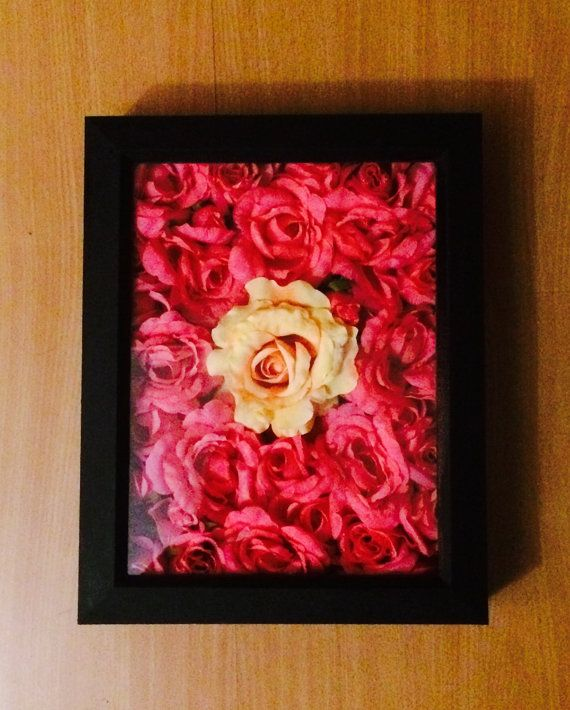 Pink Rose Shadow Box By MGreenhalghDesigns On Etsy