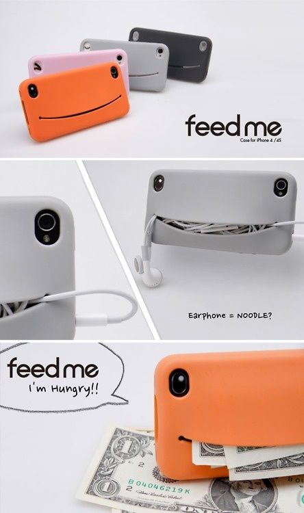 Feed Me iPhone Case Silicone Case Cover for iPhone 4/4S/5/5S. More info about this here - http://goo.gl/BZVo1y