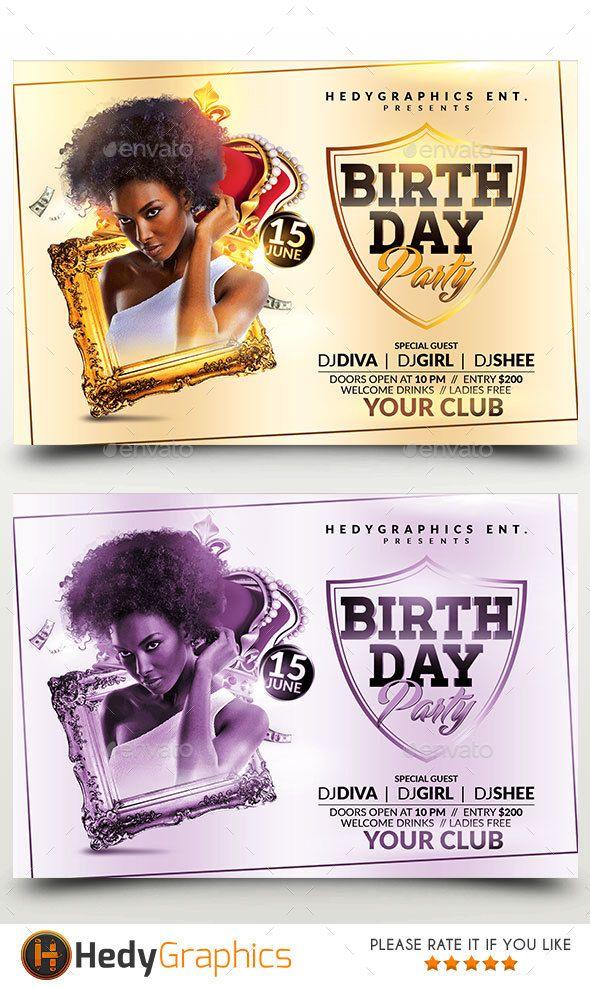 birthday bash flyer fonts logos icons pinterest flyer template