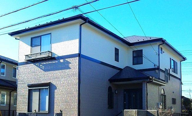 外壁塗装 屋根塗装工事施工例 岩槻区の岡島塗装 住宅塗装専門店