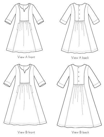 Cinema Dress - Liesl and Co - Printed Paper Sewing Pattern - Backstitch