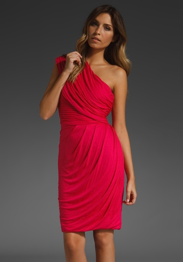 Tracy Reese Draped One Shoulder Dress
