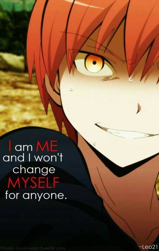 #Karma #akabane #best #assassination_classroom (mit Bildern) | Manga zitate, Anime zitate, Ich ...