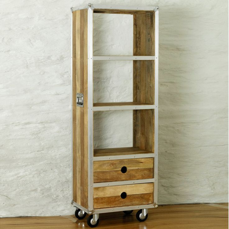 Roadie Chic Reclaimed Wood Tall Bookcase (with Drawers)