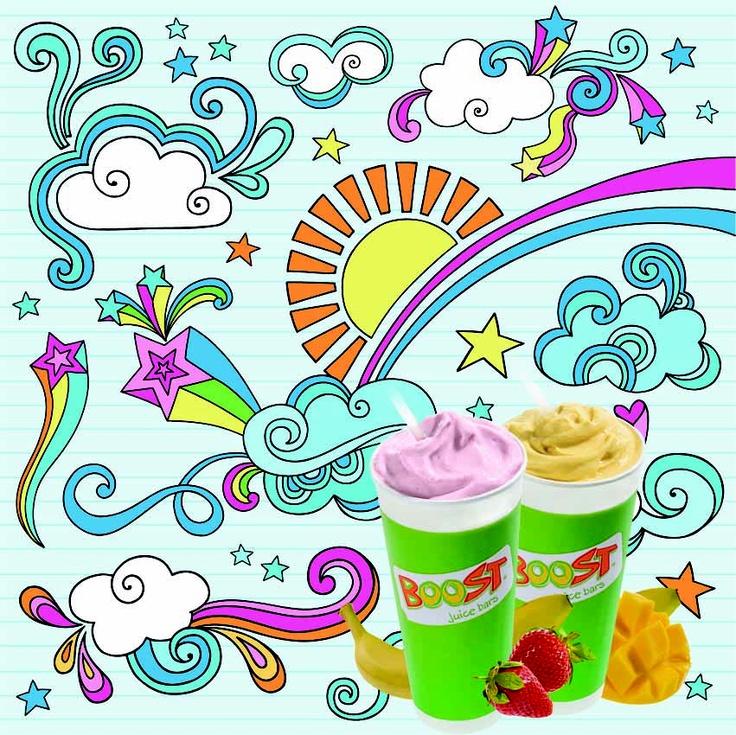 We think Boost tastes like Rainbows and Sunshine