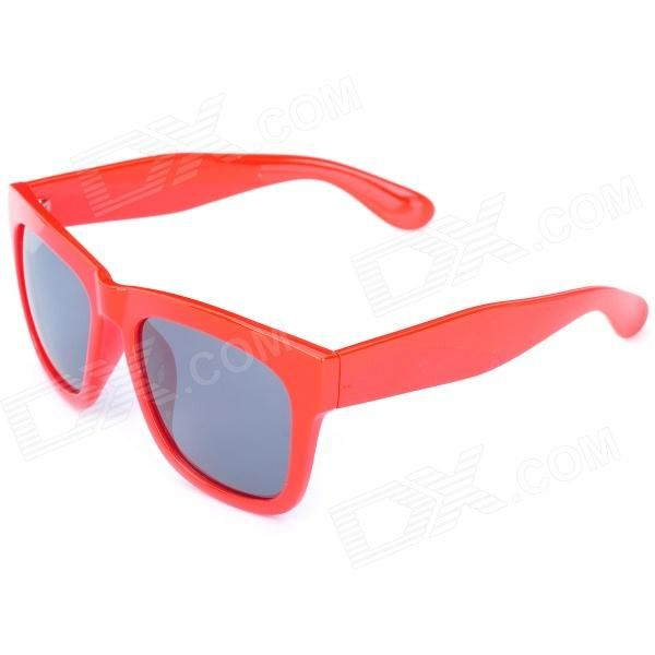 Model: AM964; Quantity: 1; Gender: Women; Suitable for: Adults; Protection: UV400; Frame Color: Red; Lens Color: Grey; Frame Material: PC; Lens Material: Resin; Lens Height: 35 mm; Lens Width: 54 mm; Bridge Distance: 40 mm; Overall Width of Frame: 138 mm; Temple Length: 140 mm; Packing List: 1 x Sunglasses; 1 x Glasses cloth; 1 x Packing box; http://j.mp/1q0vC5j