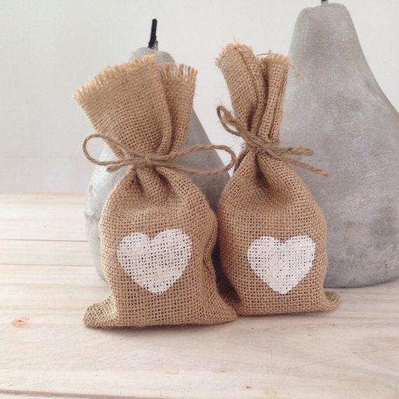 MEDIUM Hessian/ Burlap Wedding Favor Bags by BreeWestwood on Etsy, $1.80