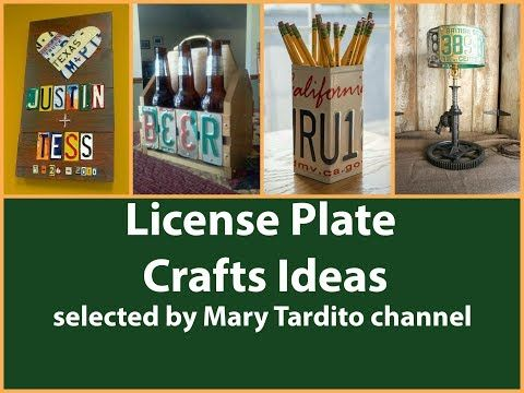 25 best ideas about License plate crafts on Pinterest