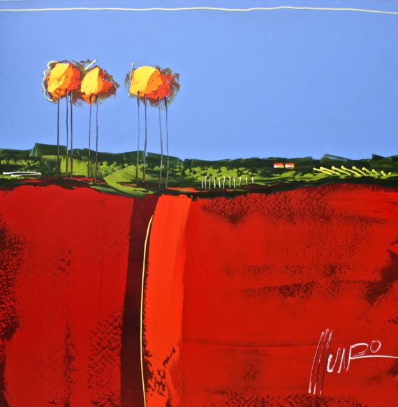 Landscape painting by South African artist by TheMunroGallery
