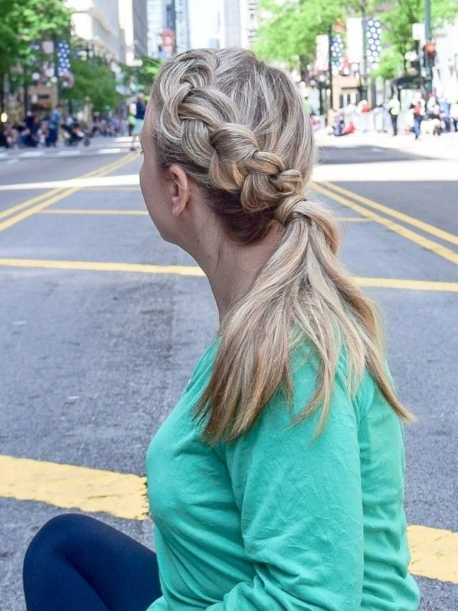 Dutch Braid in a Ponytail – A ponytail does not have to be boring