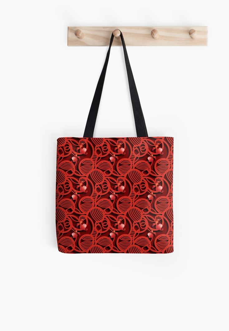 'Cherry Tomato Red Hearts' Tote Bag by Gravityx9 | Art and ...