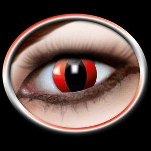 Kontaktlinser røde katteøjne. Seje kontaktlinser med motiv som røde katteøjne.Mange bruger dem til halloween eller til andre uhyggelige fester. Bliv bemærket med disse katteøjne  #kontaktlinser #Halloween #cateye