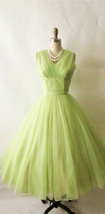 1950s True Vintage Emma Domb Heavenly Lime Green Yellow Chinffon from the 50s by VintageDressUpStore on Etsy https://www.etsy.com/au/listing/450912844/1950s-true-vintage-emma-domb-heavenly
