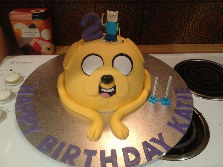 Adventure time cake I made for my nieces 2nd birthday