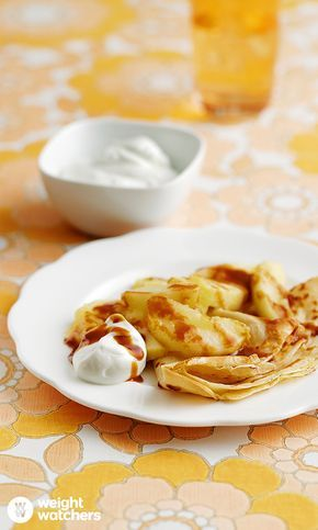 Caramelised Apple Pancakes.  Tuck into sweet and fruity pancakes this Pancake Day!  #MyWWJourney  See here for more delicious recipe inspiration: https://cmx.weightwatchers.co.uk/nui/explore