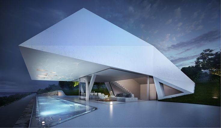 Svævende design arkitektur