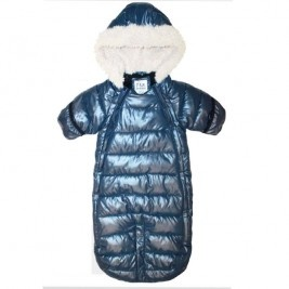 This adorable one piece infant bunting is the perfect alternative and hassle free solution to a jacket and trousers. With easy access from the side zippers to completely open the inside, your infant will stay warm with the soft quilted insulated materials. No doubt both you and your infant will be happy campers.