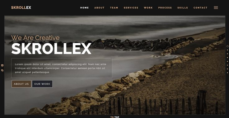 Skrollex - creative One Page parallax site template