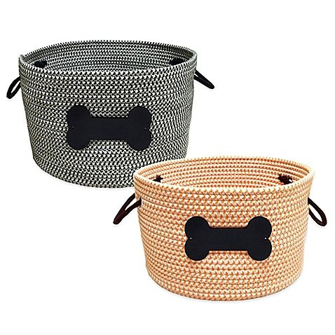 Lovely Buy Rope Pet Toy Storage Basket In Black From Bed Bath U0026 Beyond