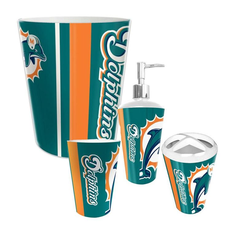 441 best miami dolphins images on pinterest dolphins for Bathroom supplies miami