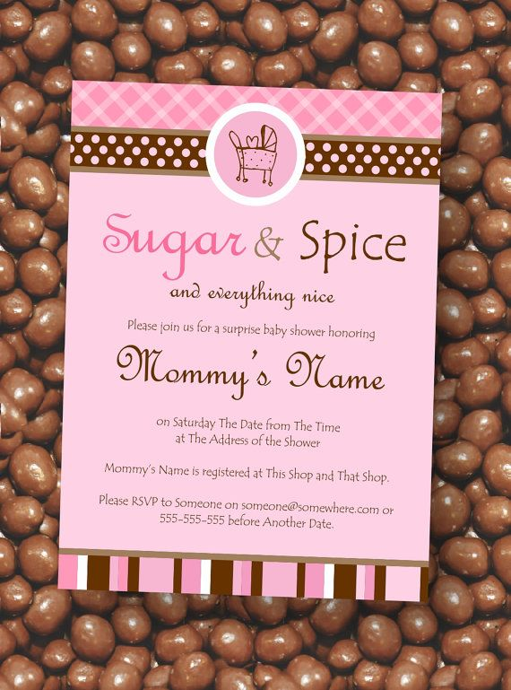 baby shower invitations girl shower baby shower ideas sugar and spice