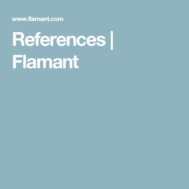 References | Flamant