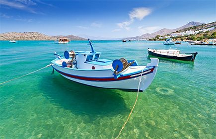 Visit Agias Pelagia's beautiful bay with our boat! #Blu #Sailing sailingtheblu@gmail.com