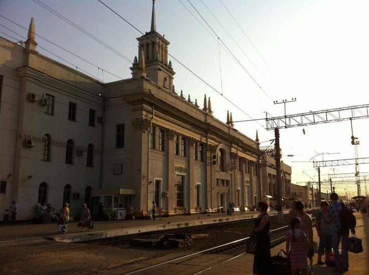 Train station of Krasnodar, a city in southern Russia