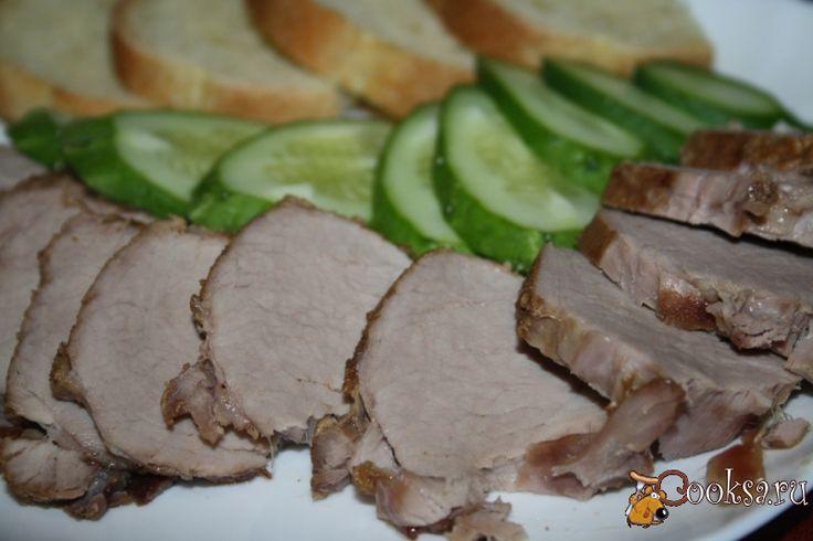 Свиная вырезка для бутербродов в чесночно-имбирно-соевом маринаде