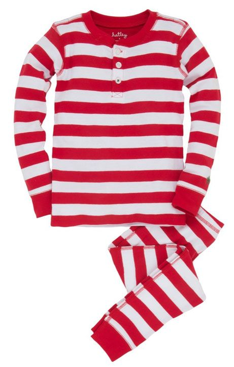 A classic take on Christmas Eve Pajamas this two piece holiday pajama set for boys and girls features a unisex design of red and white candy cane stripes.  Designed to be snug fitting this long sleeve two piece Christmas pj set is available in sizes for toddler and little boys and girls.