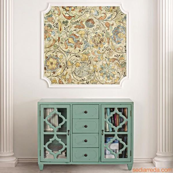 Astro | Shabby chic cupboard in sage colour