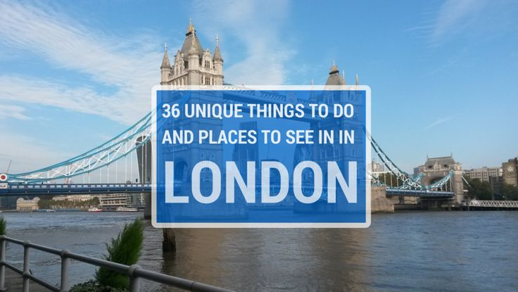 36 Unique Things To Do in London - including the best bars, restaurants and tourist attractions! Lots of things in this list I didn't even know about!