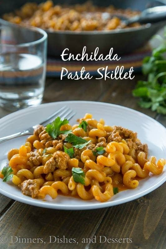 Enchilada Pasta Skillet - a quick and easy dinner