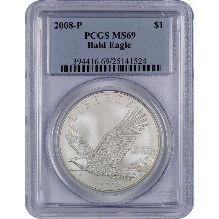 2008P Bald Eagle Silver Dollar MS69 PCGS Buy silver