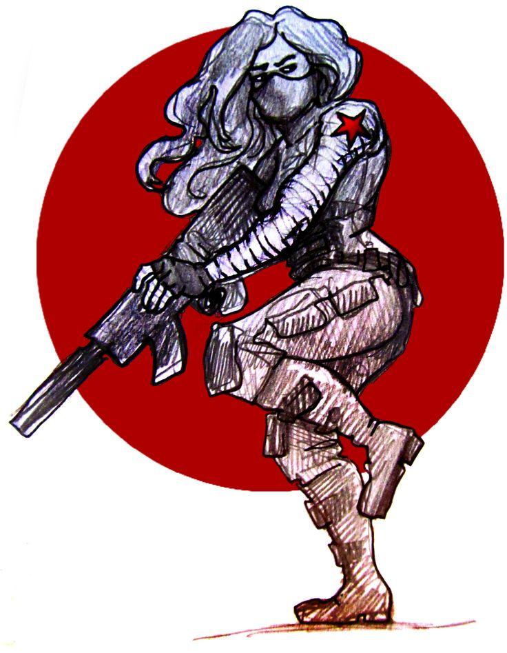 Female Winter Soldier ||| Captain America: The Winter Soldier Fan Art by suddenlyawildartblogappears on Tumblr