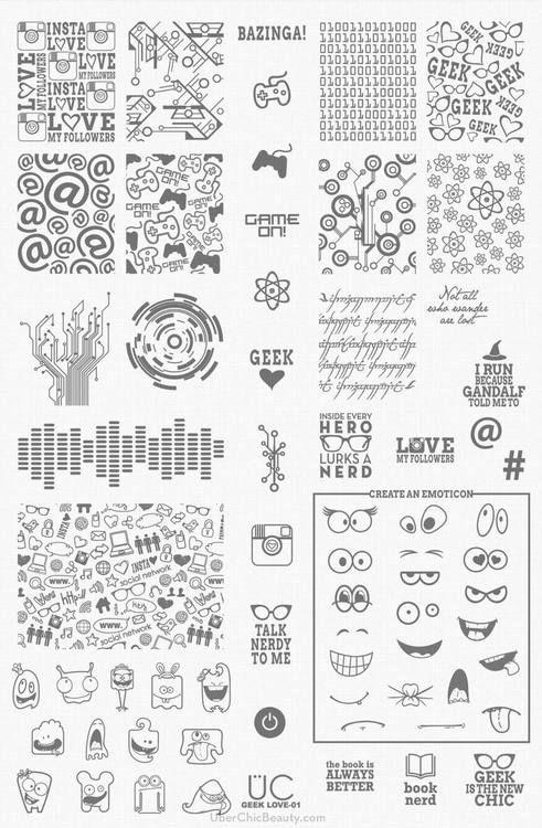 nail stamp art, stamp nail, nail art, diy, nail stamp plates, stamp plates, uberchic, uberchic beauty, hipster nail art, geek nail, geek