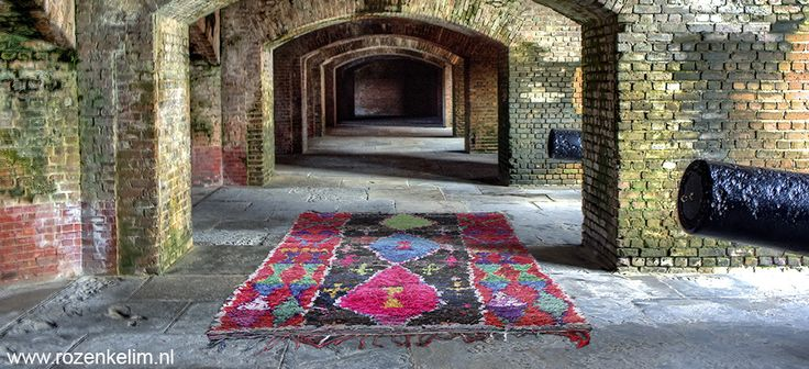 Unique handwoven colorful kilim. This authentic piece is from Morroco, Azilal. Did you know we alse make custom made rugs?