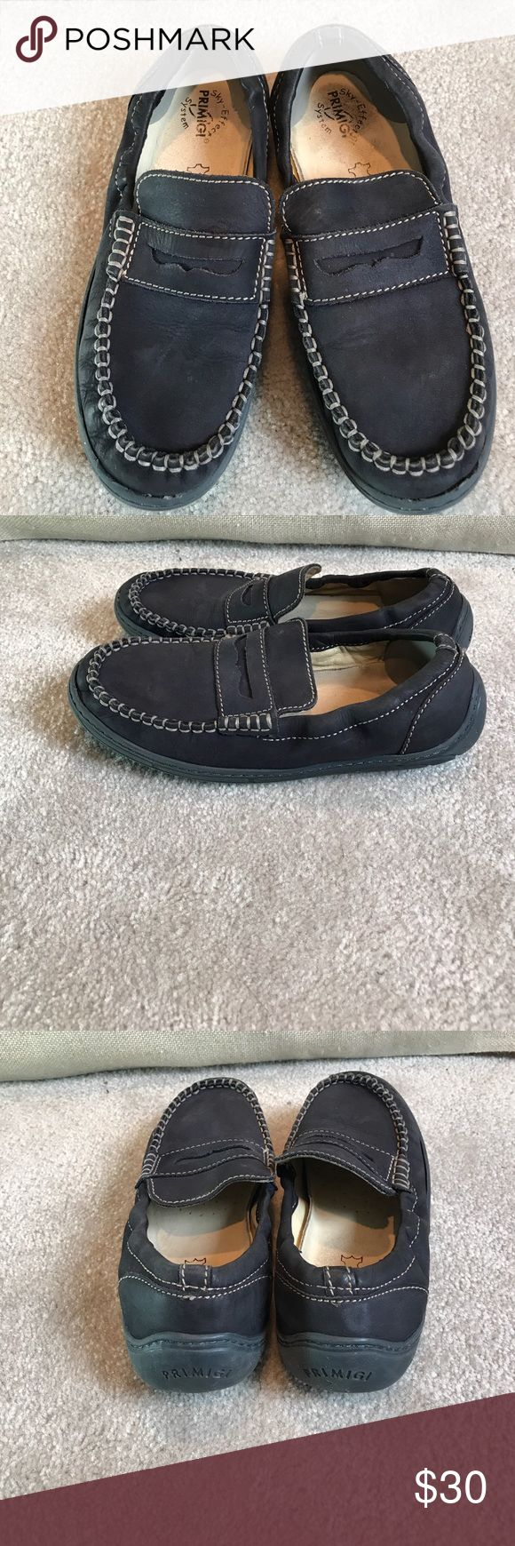 Primigi Sky Effect blue mocassins loafers 34 Great condition. Clean. A bit of insole discoloration at the heel area. We added soft heel guard ( can be removed) Primigi Shoes Moccasins